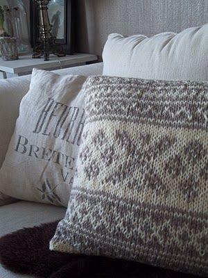 Camillas romantiske hjem: Nye sofaputer i ull!