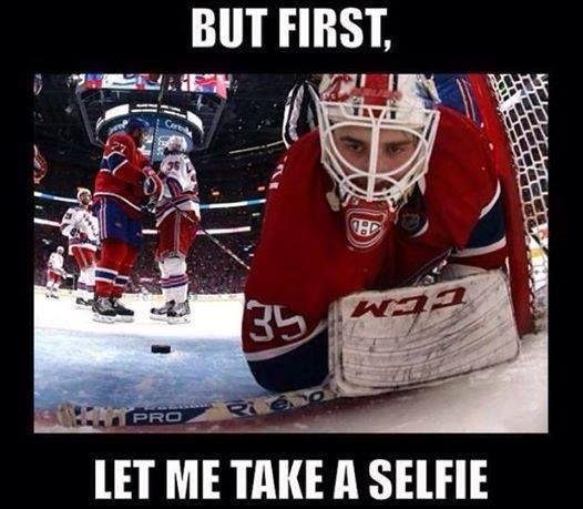 Dustin Tokarski selfie :-)