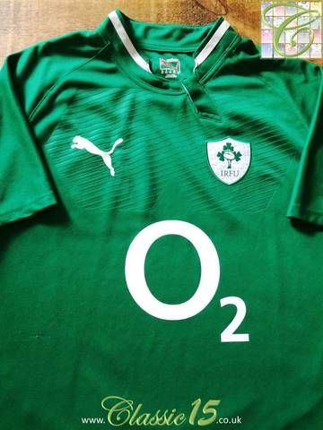 Official Puma Ireland away pro-fit rugby shirt from the 2011/12 international season.