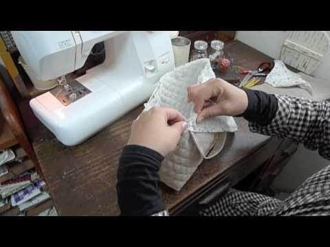 封筒タイプの横入れお弁当袋の縫い方 - YouTube                              …
