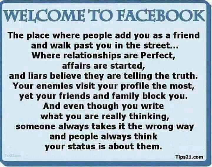 This pretty much sums it up about Facebook! lol! | Things ...