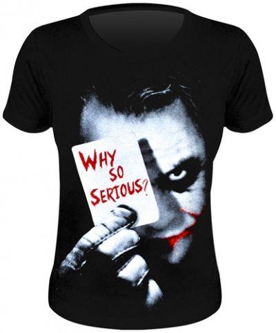 Tee Shirt Femme BATMAN - Why So Serious ? www.rockagogo.com