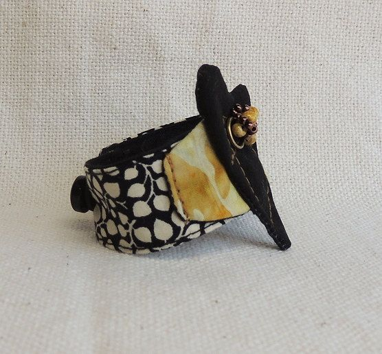 Fabric Cuff Bracelet by Montse on Etsy