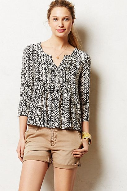 Obsess with peasant tops for spring  Mahdia Peasant Top #anthropologie
