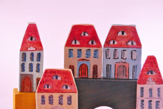 Collectible House miniature urban Transilvanyan house House