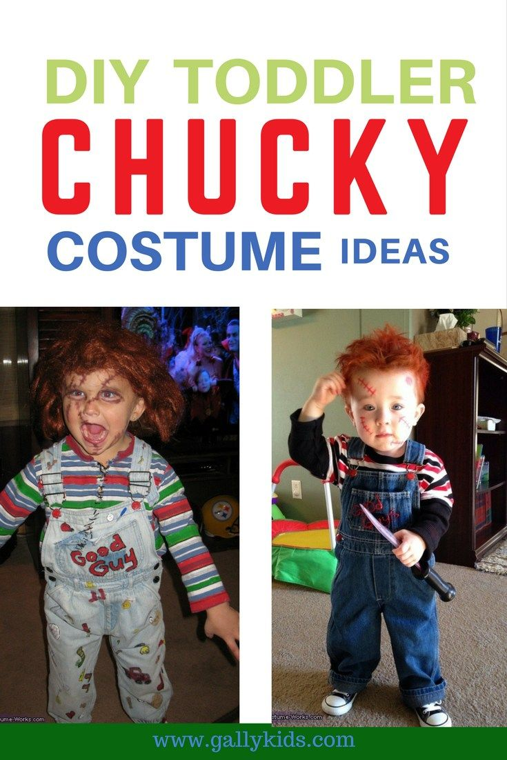 Toddlers Chucky costume for Halloween. Some may find it creepy but some find the humor in it. Creepily funny and cute!