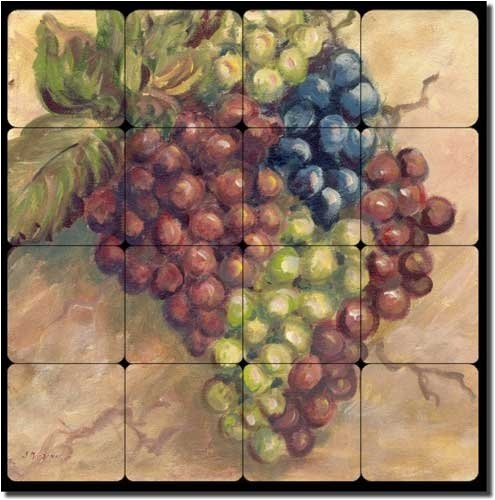 Kitchen Tiles Fruits Vegetables: Fruit Tumbled Marble Tile Mural