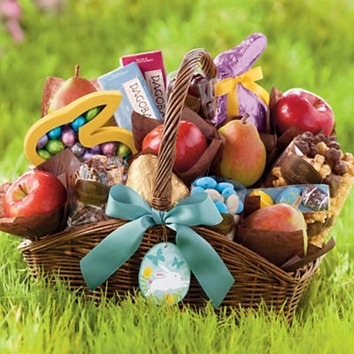 68 best hoppy easter images on pinterest hoppy easter easter easter gift basket deluxe no easter is complete without chocolate lots and lots of negle Choice Image
