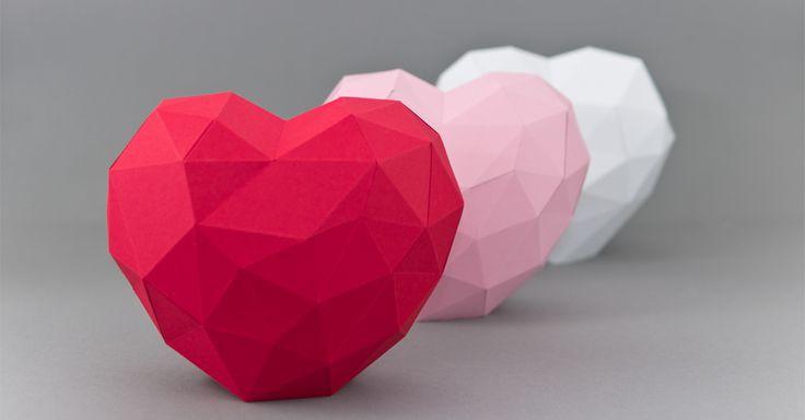 Druckvorlage 3D Herz zum Basteln und evtl. als Muttertagsgeschenk