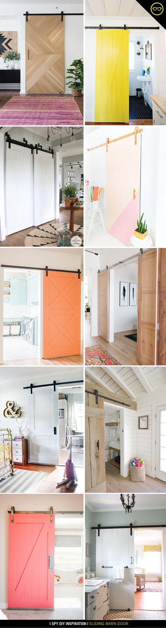 I love the look of a siding door, it's such a stylish and sleek way to divide spaces, without closing them off. I have a storage closet in the studio that needed some oversized doors to hide all the s