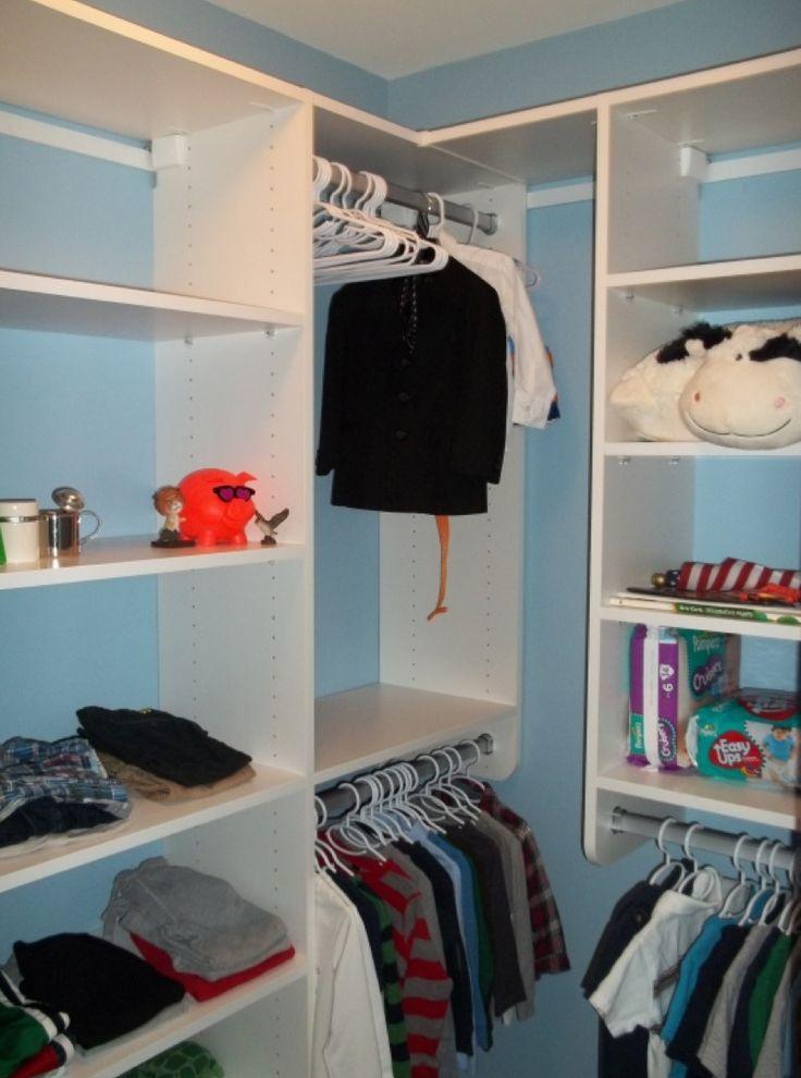 A Walk In Boys Closet From California Closets In Classic White. #winterwhite