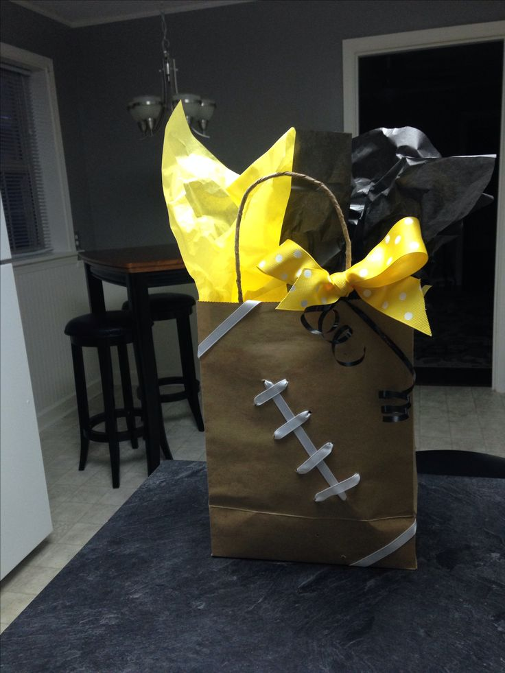 DYI football goodie bag