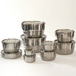Stainless Steel Locking Air-Tight Containers - contemporary - food containers and storage - Green Home