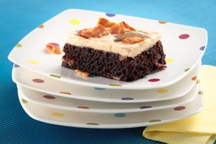 Bacon Brownies with Balsamic Frosting recipe
