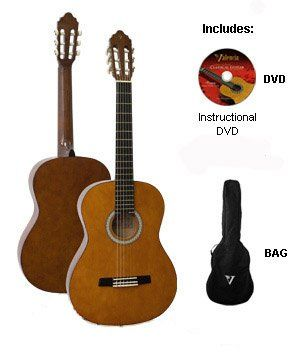Acoustic Guitar Package Valencia Classical Kit 1 1/2 Size - http://www.learntab.com/guitar-deals/acoustic-guitar-package-valencia-classical-kit-1-12-size/