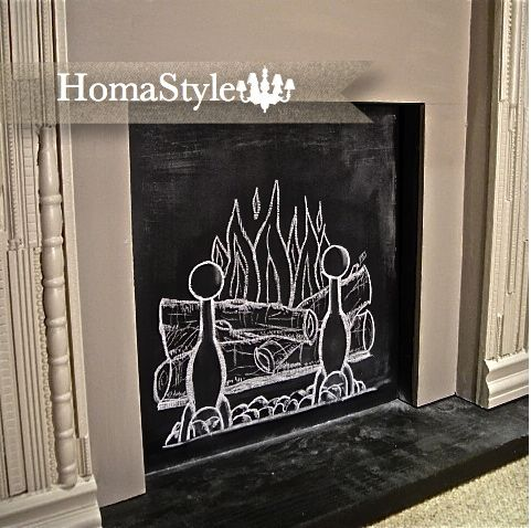 Have a fireplace that doesn't work? Paint the boarded up opening with chalk paint!: Crafty Texas, Add Chalkboards, Chalk Fire, Chalkboards Paintings, Faux Fireplaces, Texas Girls, Bedrooms Ideas, Fake Fireplaces, Design Style