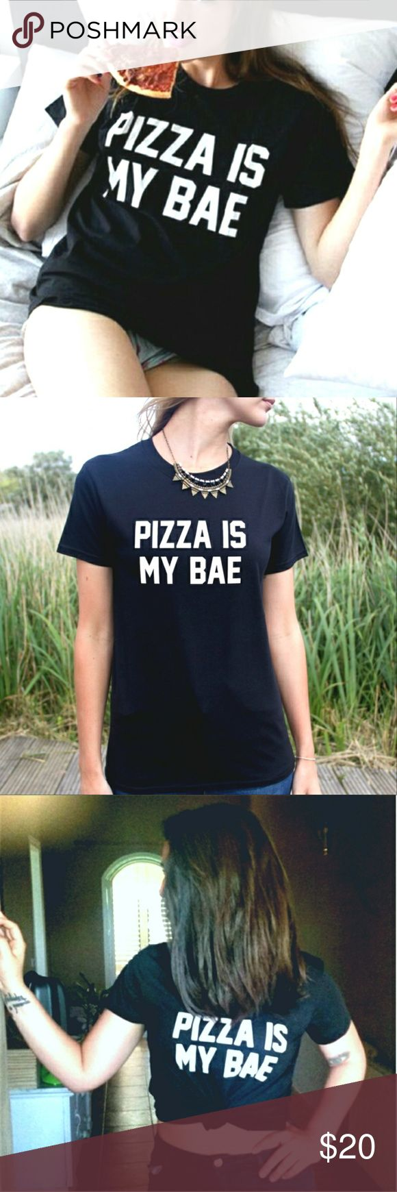 NEW Pizza is My Bae Graphic Tee. S,M,L,XL Fitting: Classic fit, true to size.   *Measurement in inches :    S   : Width = 17.25″, Length = 25.5″. Size 4-6    M  : Width = 19.25″ , Length = 26″. Size 8-10    L   : Width = 21.25″ , Length = 27″. Size 12-14    XL : Width = 23.25″, Length = 28″. Size 16-18  *Material: Heavy Cotton blend.  *Condition: Brand new in original packaging.  Comfy and versatile graphic tee. Made out of high quality heavy cotton blend.The perfect tee for everyday wear or…