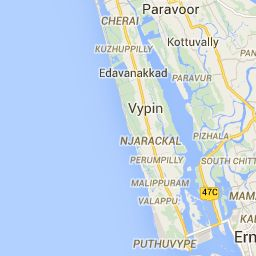 Kerala Cycling Route - Google Maps