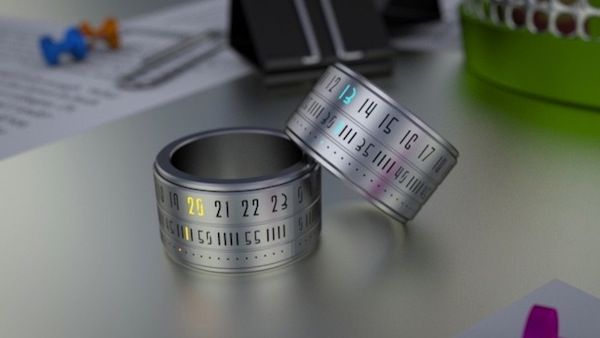Ring Clock - http://extrove.com/ring-clock/