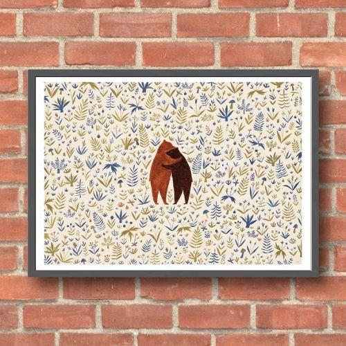Lara Hawthorne - Bear Hug, giclee print