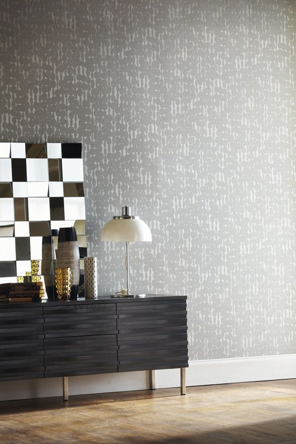 The designer links wallpaper by Harlequin give a luxurious look with its beaded disc design. From the Momentum Wallcoverings Volume 2 collection