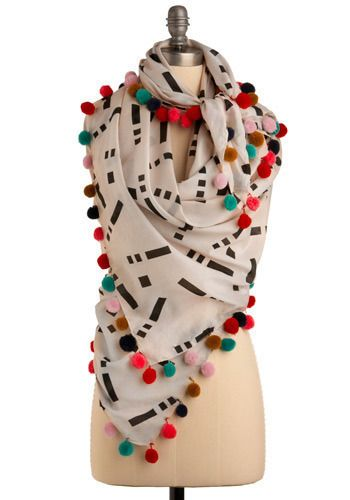 Bring it Pom Scarf WHY ISN'T THIS AVAILABLE ANYMORE @ModCloth?! I need it!
