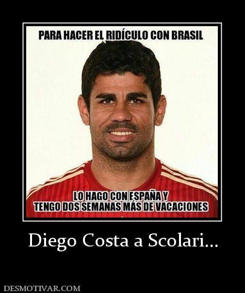 Diego Costa a Scolari...