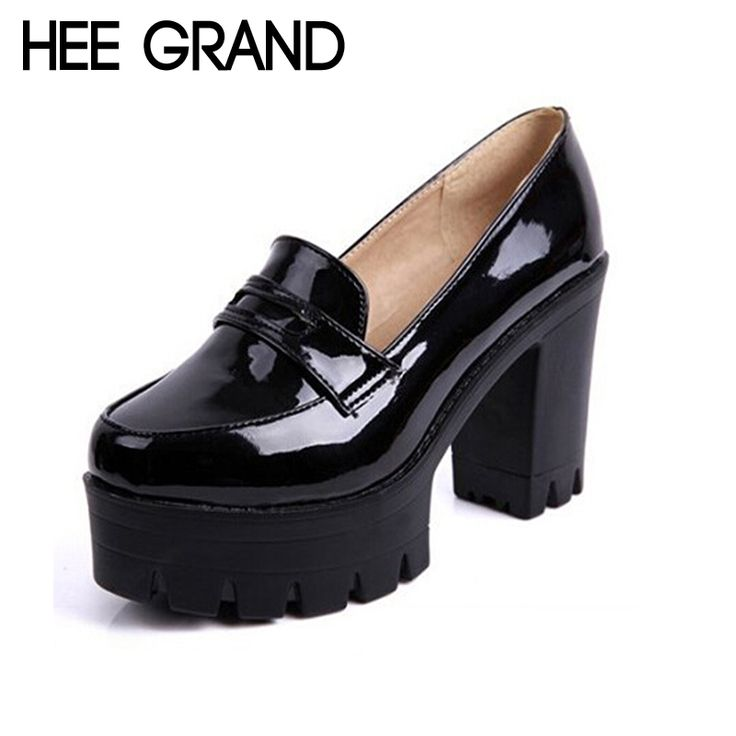Cheap shoes oem, Buy Quality shoes with wedge heel directly from China shoes for table tennis Suppliers: HEE GRAND Fashion Sweet PU Leather Thick Heel Women Shoes, Platform Slip-on Casual Single Shoes For Women Drop Shipping XWD1334