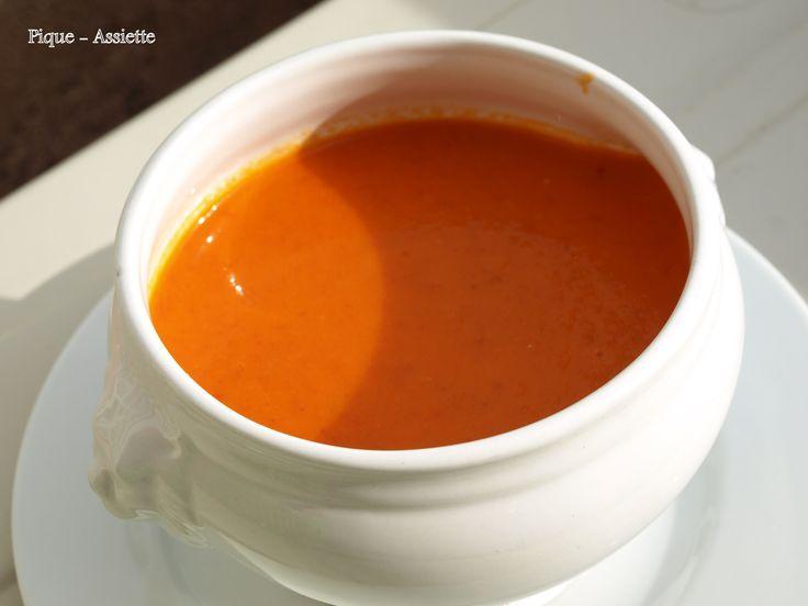 Crème de poivrons / tomates / chorizo (Recettes au Companion)