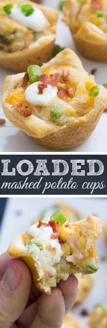 Loaded Mash Potato Cups