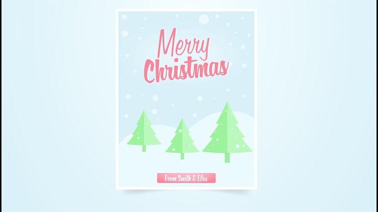 Learn how to create vector christmas flyer using adobe illustrator. #illustrator #christmas #xmas #tutorial