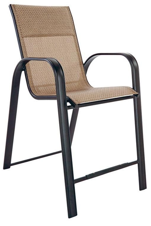 Living Accents KTS022P Newport Balcony Chair, Steel, Black