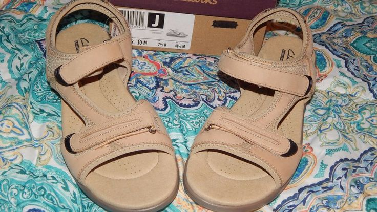 Clarks Rise10 M Greystone Sport Sandals Womens Ladies Sandals Shoes 81938 NEW #Clarks #SportSandals #Casual
