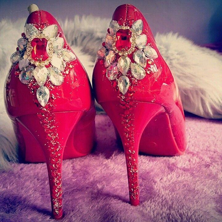 Lodicky s kamienkami , cervene lodicky, fashion , modne lodicky