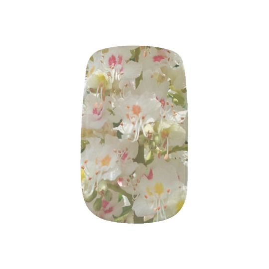 #zazzle #girl #woman #gift #giftidea #Nail #Art #Minx® #wraps #Beautiful #Flower