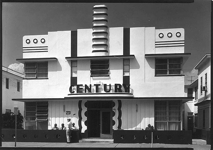 Art Deco Century Hotel. South Miami Beach-- The southern end of Miami Beach contains a rich collection of Art Deco architecture, the most famous of which are a series of small hotels facing towards the beach.