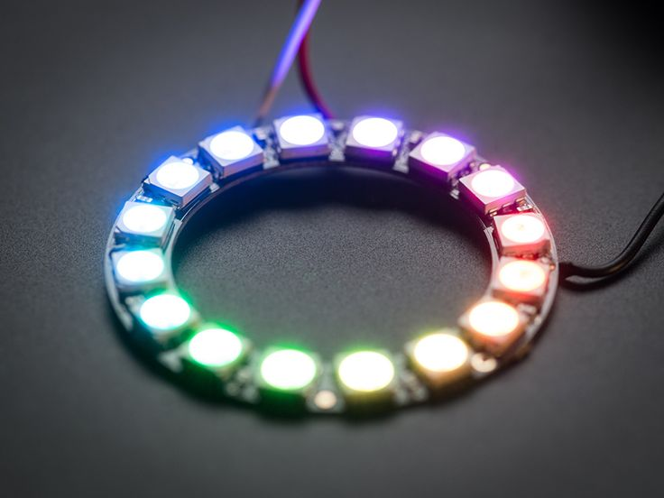 NeoPixel Ring - 16 x WS2812 5050 RGB LED with Integrated Drivers PRODUCT ID: 1463 $9.95