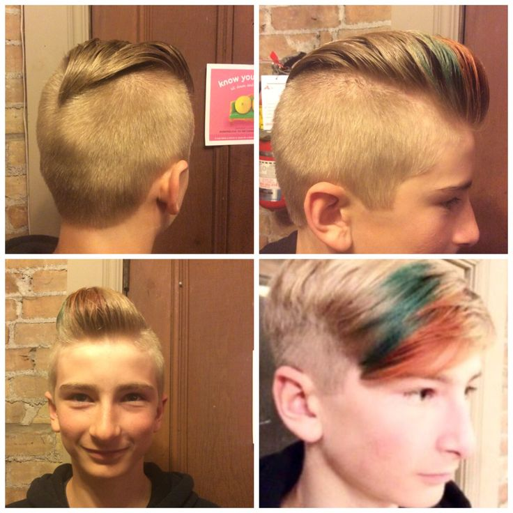 Young Dapper Pompadour!!!! Long lasting Goldwell Elumen color....(bottom right hand color 12 weeks old)....WOW