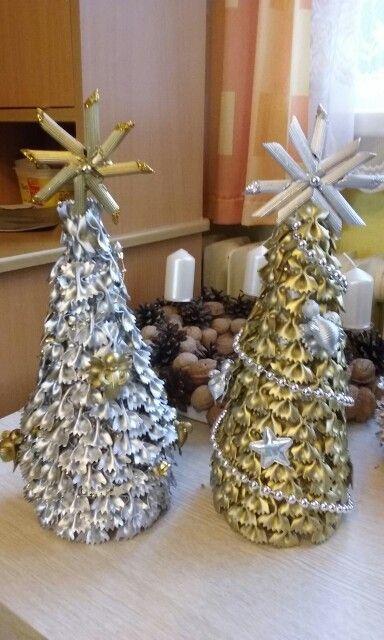 Vánoční stromečky z těstovin. Dílnička maminek 2015