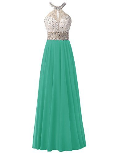 Dresstells® Long Chiffon Halter Neck Prom Dress With…