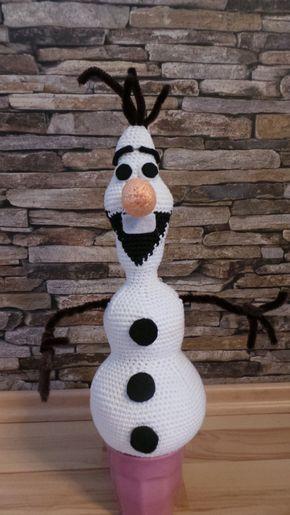 """Schneemann Olaf von """"Die Eiskönigin"""" selber häkeln Dies ist nicht meine eigene Häkelanleitung sondern Ashley Phillips hat diese wunderbare Olaf Häkelanleitung erfunden. Ich habe mit Zus…"""