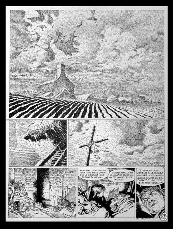 Hermann, Tours de Bois-Maury par Hermann - Planche originale