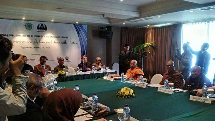 """The Muslim and Buddhist leaders of Southeast Asia and South Asia released the Yogyakarta statement to refute the """"use of Islam and Buddha in the politics of discrimination and violence."""