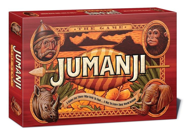 Jumanji Board Game For Kids And Family Action Movie Toy Home Adventure Age 8 Up