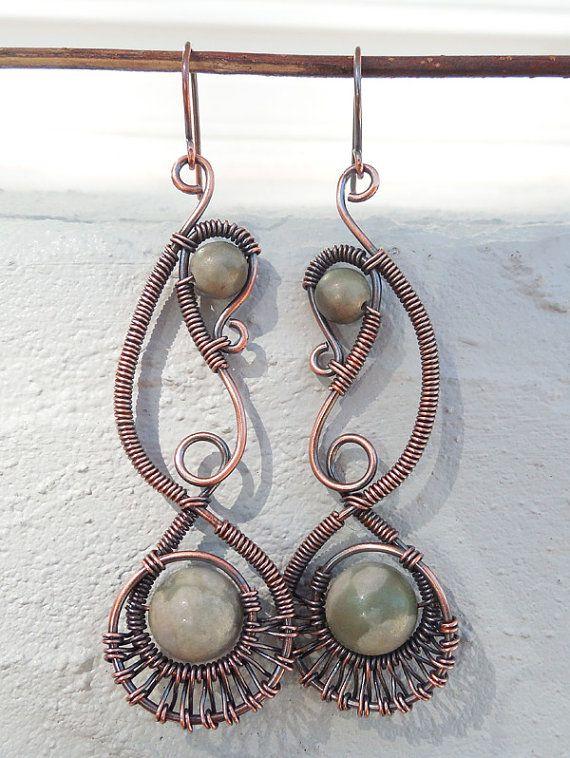 Mystic earrings handmade bohemian jewelry by Kissedbyclover