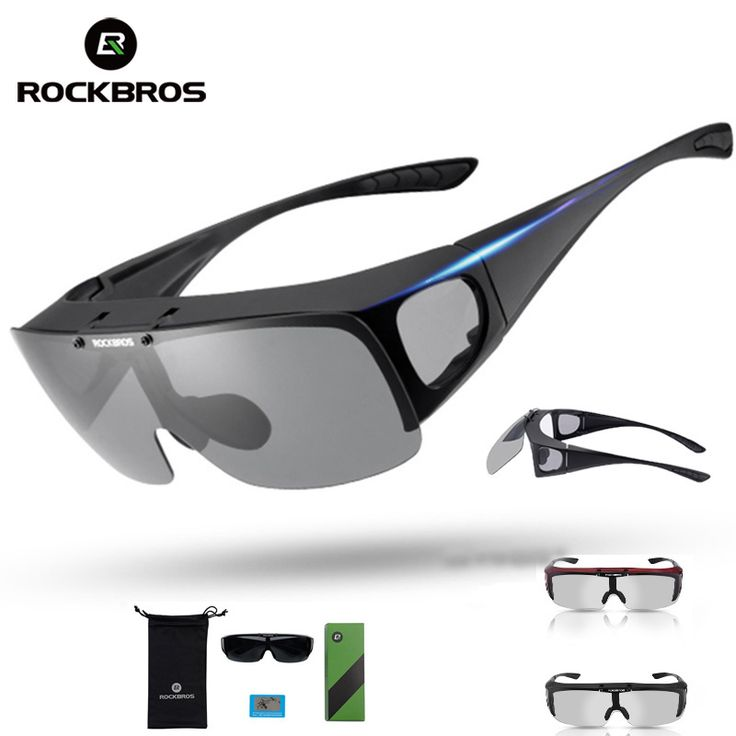 ROCKBROS Myopia Polarized Kit Cycling Glasses Sunglasses Adjustable Road Mountain Bike Bicycle Riding Protection Goggles Ciclism #Affiliate