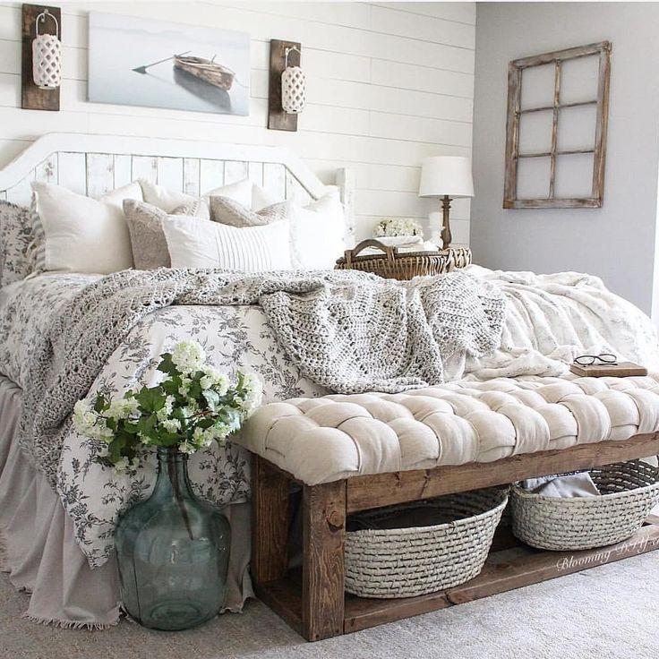 65 charmante rustikale Schlafzimmer Ideen und Desi…