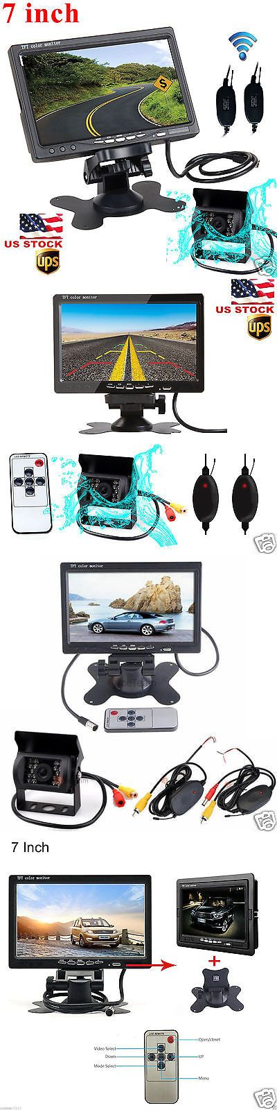 Rear View Monitors Cams and Kits: Wireless Rear View Backup Camera Night Vision System +7 Monitor For Rv Truck Bus -> BUY IT NOW ONLY: $47.99 on eBay!