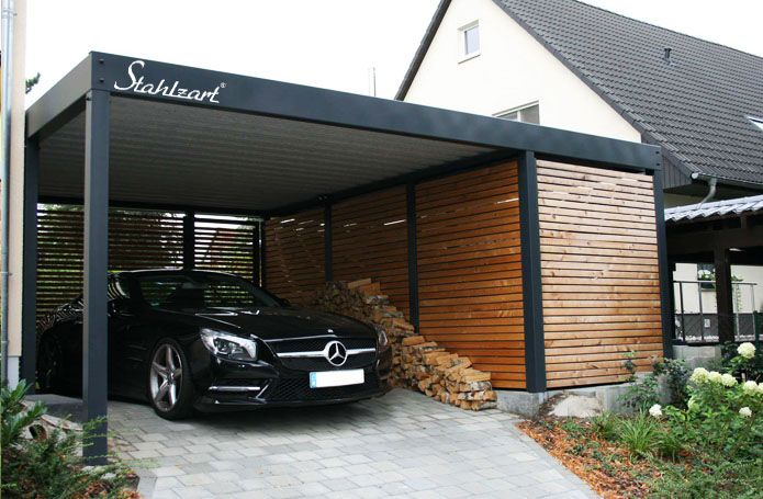 Metallcarport Stahlcarport Kaufen Preise Info Metallcarport Stahlcarport Mit Abstellraum Design Carpo Garagenbau Carport Modern Carport Mit Abstellraum
