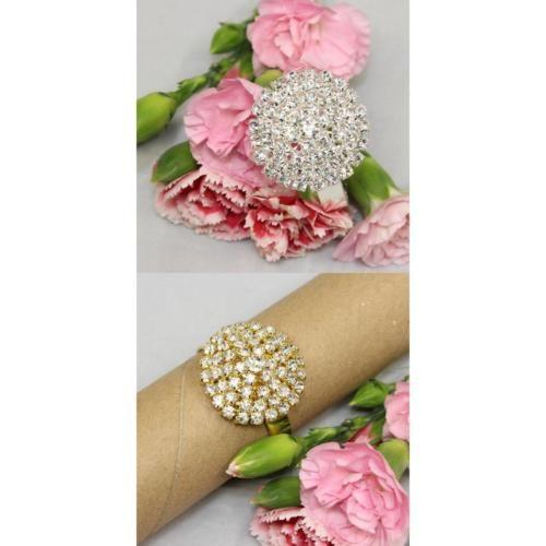 2x10pcs-Serviette-Buckle-Holder-Diamante-Napkin-Ring-for-Party-Gold-Silver